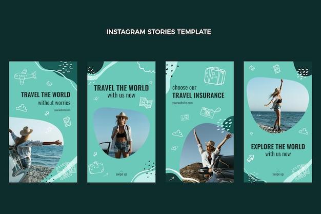 Voyagez dans les histoires instagram du monde