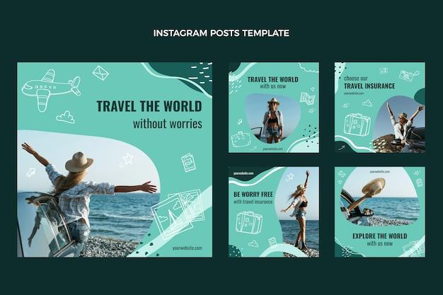 Voyagez dans le monde sur les publications instagram