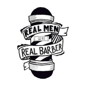 Les vrais hommes vont chez le vrai barbier