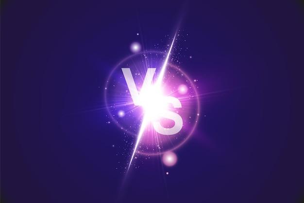 Vs signe vecteur contre fond avec lumière rougeoyante