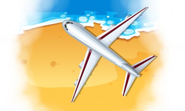 Une vue aérienne de l'avion
