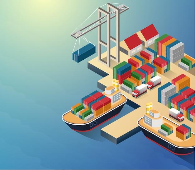 Vue aérienne du front de mer du port