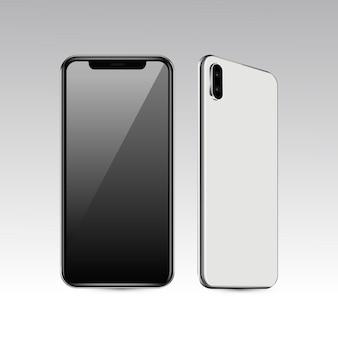 Vue avant et arrière du téléphone portable