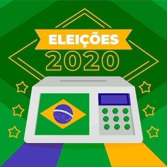 Vue avant, urne, brésil, élection