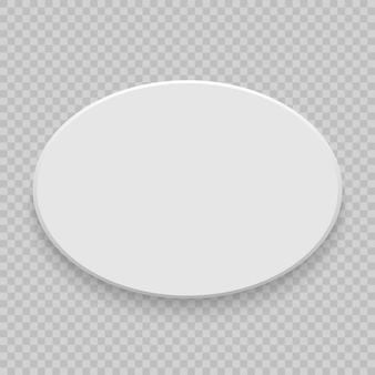 Vue de dessus de boîte avec une ombre. maquette du modèle 3d. blanc réaliste blanc