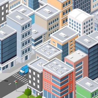 Vue de dessus du paysage urbain