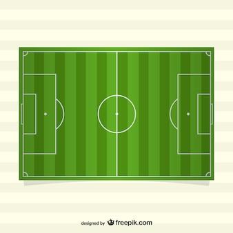 Vue de dessus du terrain de soccer de vecteur