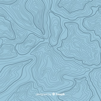 Vue de dessus fond de lignes bleues topographiques