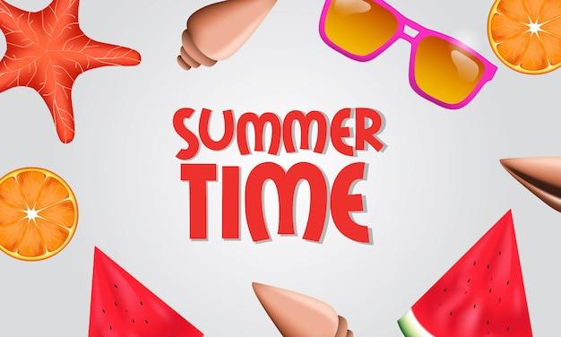Vue de dessus de fruits tropicaux bonjour l'été