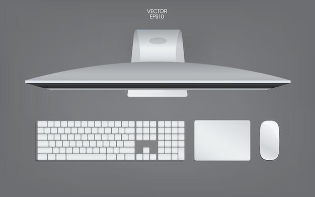 Vue de dessus de l'illustration de l'ordinateur