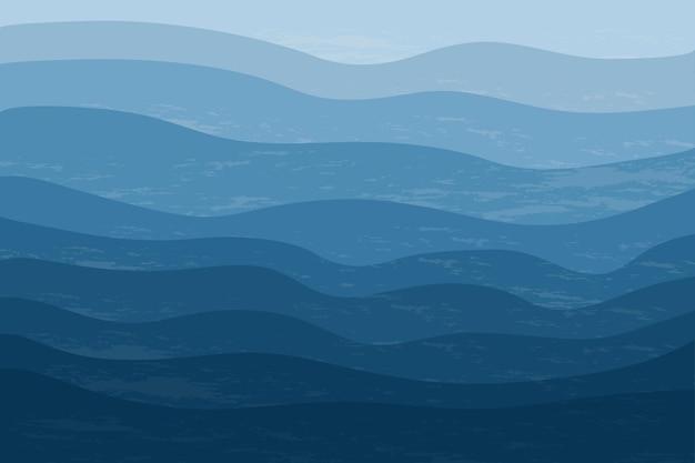 Vue de dessus de la mer bleue abstrait élégant avec des vagues de l'océan