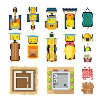 Vue d'ensemble des icônes de la construction
