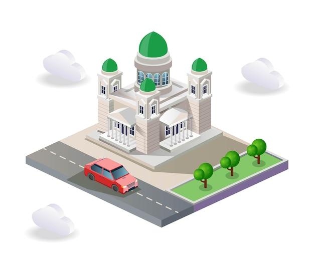 Vue de la forme de la mosquée
