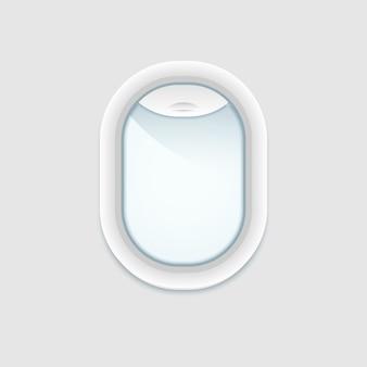 Vue intérieure de la fenêtre de l'avion.