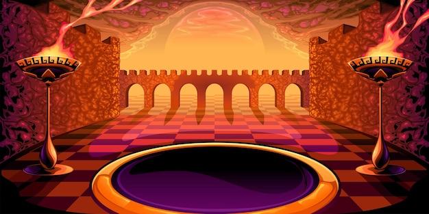 Vue sur le labyrinthe. illustration vectorielle mythologique