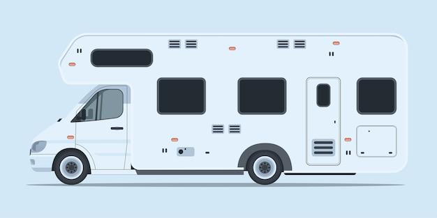 Vue latérale du camping-car