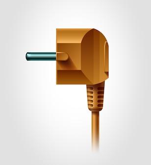 Vue latérale de la prise électrique, objet réaliste,