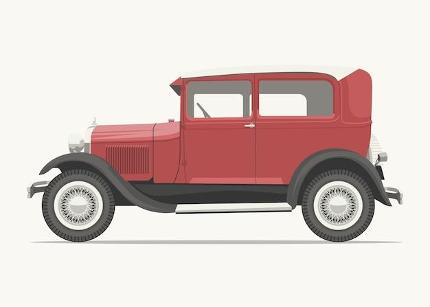 Vue latérale de voiture vintage