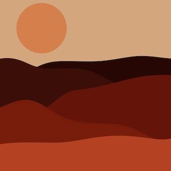 Vue sur la nature plat paysage abstrait