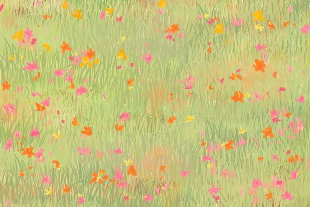 Vue d'oeil d'oiseau de fond de croquis de champ de pavot