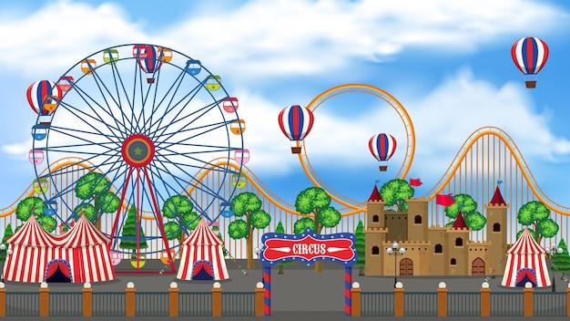 Une vue panoramique du cirque