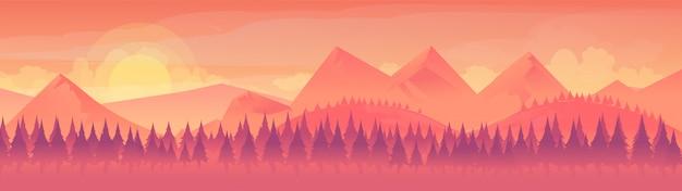 Vue de paysage de la chaîne de montagnes