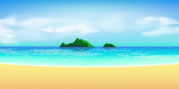 Vue sur la plage tropicale