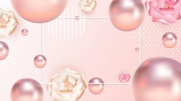 Vue rapprochée de perles réalistes