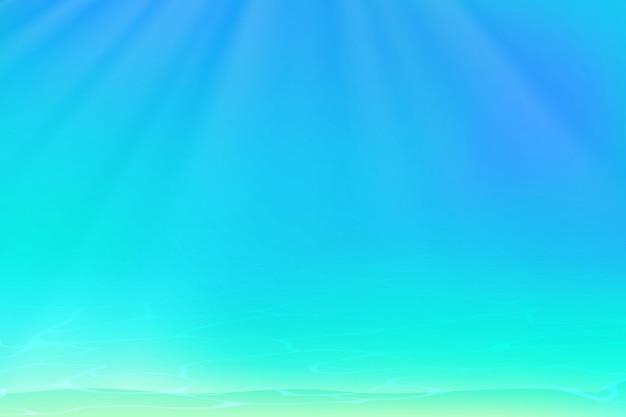 Vue sous-marine fond bleu avec des vagues du soleil et des ondulations ocean beach sous l'eau