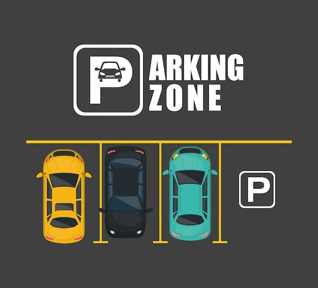 Vue de la zone de stationnement