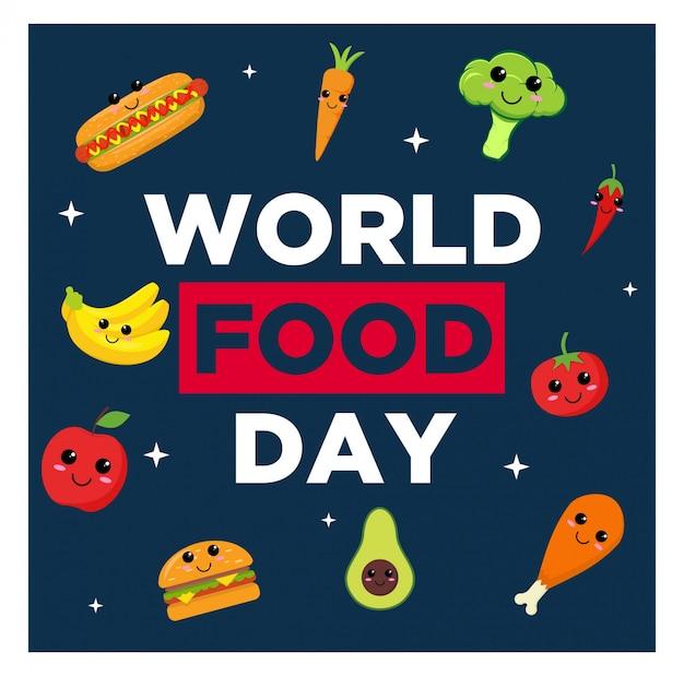 W fond de la journée mondiale de la nourriture