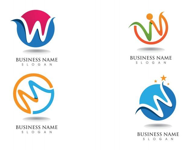W logo et logo de l'entreprise