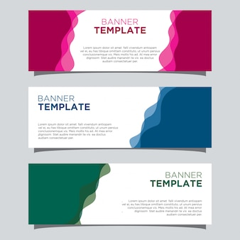 Wafy banner template