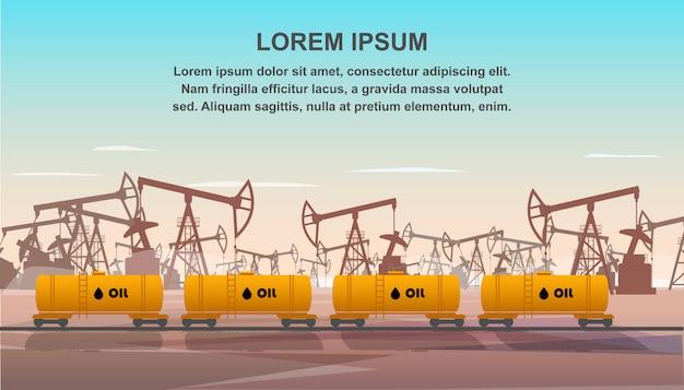 Wagons de fret pour le transport de l'industrie pétrolière.