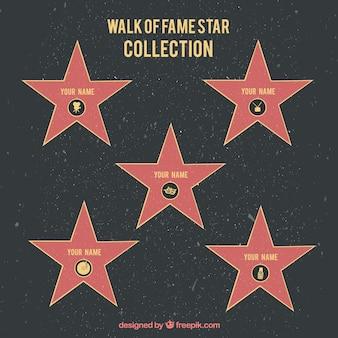 Walk of renommée fond d'étoile
