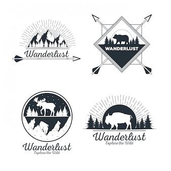 Wanderlust adventure logo