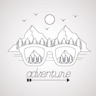 Wanderlust explore le paysage d'aventure