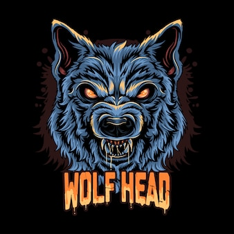 Warewolf head angry face artwork