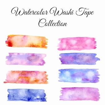 Washi tape aquarelle set illustration