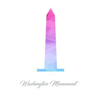 Washington monument monument polygon logo