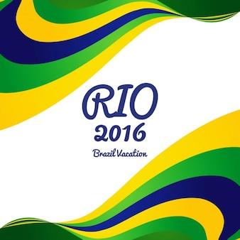 Wavy brazil couleurs de fond