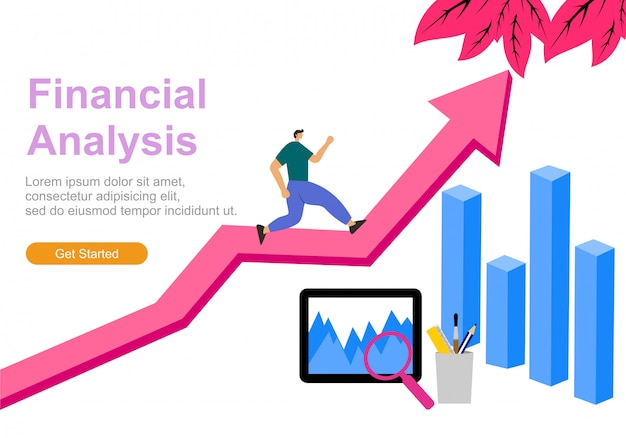 Web analytique illustration plat