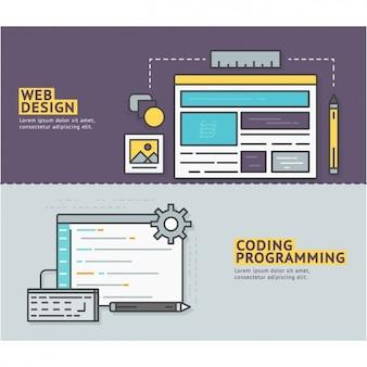 Web bannières de conception de conception