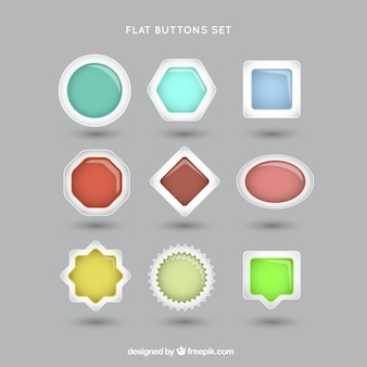 Web buttons formes définies