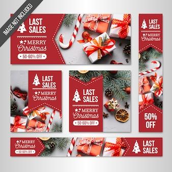 Web des bannières de vente de Noël