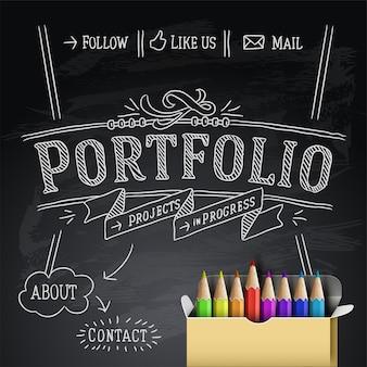 Web design portefeuille modèle illustration vectorielle