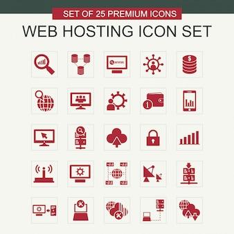 Web hosting icônes définies vecteur