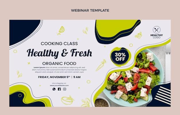 Webinaire sur les aliments sains et frais au design plat
