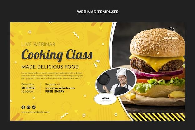 Webinaire de cours de cuisine design plat