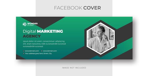 Webinaire en direct sur le marketing numérique et modèle de couverture facebook d'entreprise